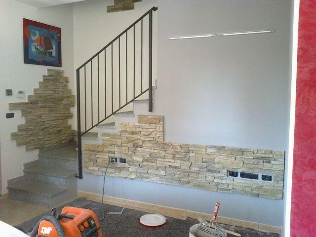 parete con pietra