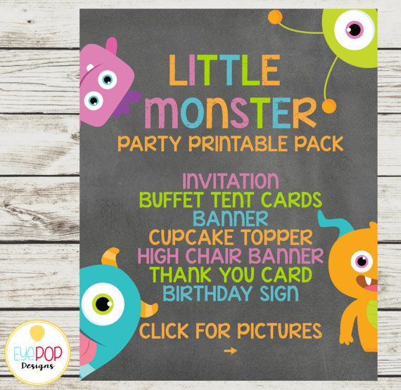 Welcome to EyePop Designs!   SAVE $7 on this listing! If you were to purchase all these items a la carte, you would spend $39...purchase together and pay only $30!   || THIS IS A DIGITAL FILE || I design, you print. No physical items will be mailed.   || PRODUCT DETAILS ||  Invitation (4x6 or 5x7) Banner (8.5x11) including A-Z. 0-9. and a blank pennant Cupcake toppers (2) Welcome sign (8x10) Thank you card (4x6) Buffet tent cards cards (6 on a page) Highchair banner (5x7 each)   || HOW TO…