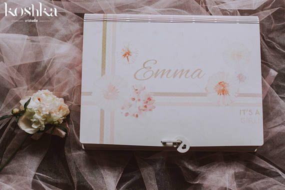Baby Girl Keepsake Album, Personalized Photo Memory Book, Handmade Newborn Photo Album, Baby Scrapbook Album
