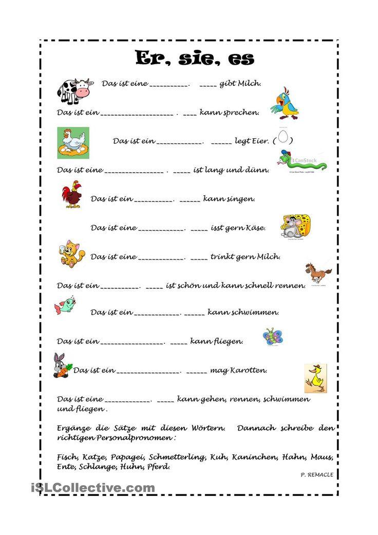 47 best Pronomen images on Pinterest | Learn german, German grammar ...