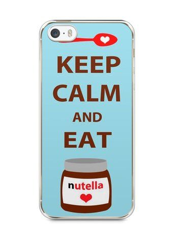 Capa Iphone 5/S Keep Calm and Eat Nutella