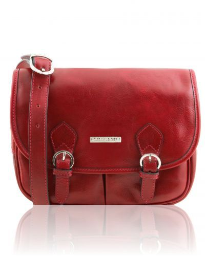 GIULIA TL141481 Leather shoulder bag with flap