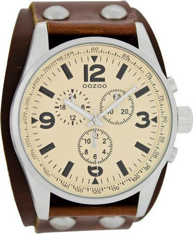 Oozoo Unisex Brown Leather Strap C6441
