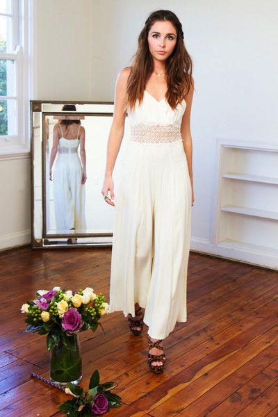 #JUMPSUIT #WEDDING #UNCONVENTIONAL #BRIDE 'Abbie' Jumpsuit | Postcard Vintage