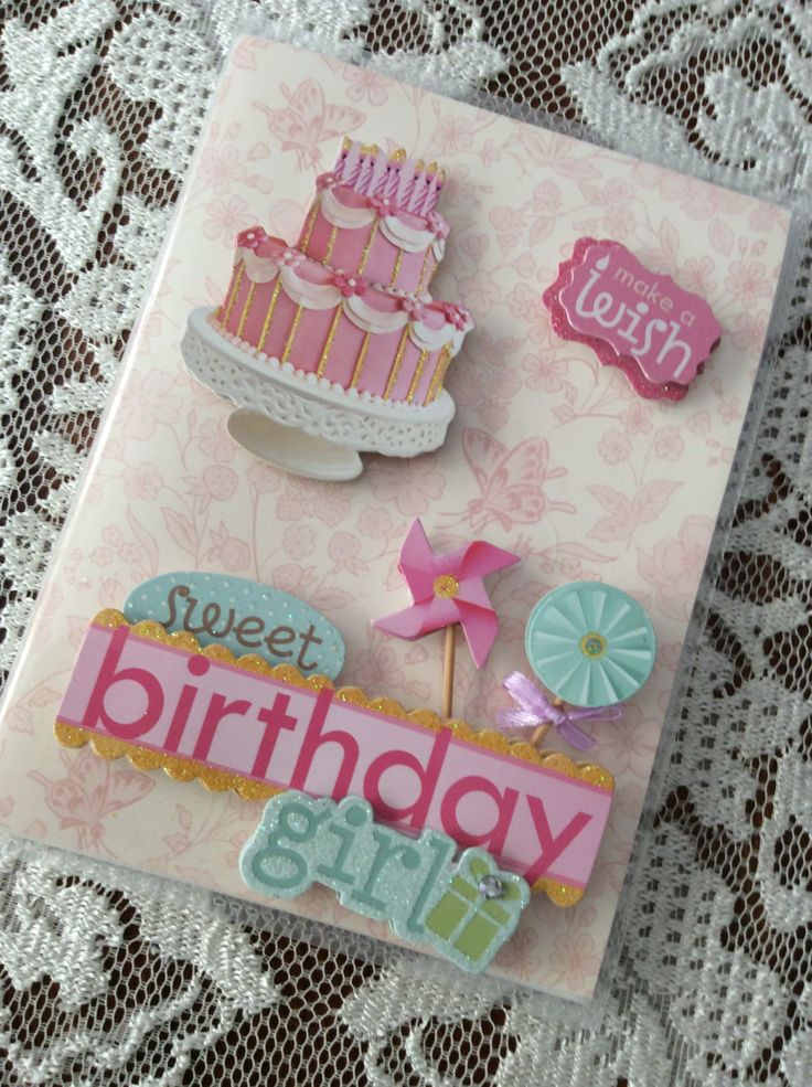 Beautifully Decorated Photo Albums - Sweet birthday girl by GoggaLooch on Etsy