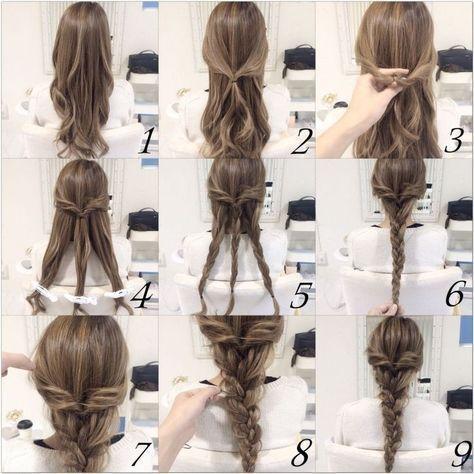 10 Schnelle und einfache Frisuren (Schritt für Schritt - Alles - #einfache #Einfache #Frisuren #fr #schnell