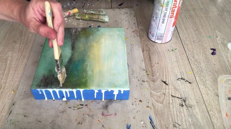 Wax on Wednesdays Encaustic Painting Rainy Day Finger Painting Again