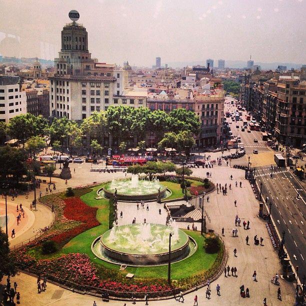 Plaça de Catalunya in Barcelona, Cataluña