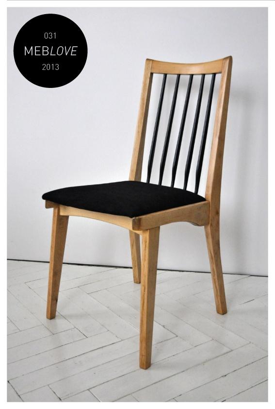 vintage design skandinavian style black chair