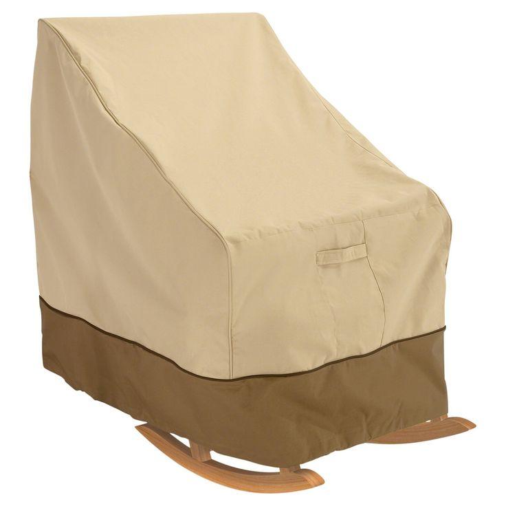 "Veranda Patio Rocking Chair Cover -27.5 x 32.5"" x 39"" - Light Pebble - Classic Accessories"