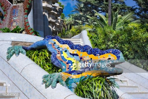 Photo : Mosaic dragon, Park Gwell, Barcelona