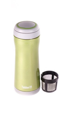 Thermos de couleur nickel métallique