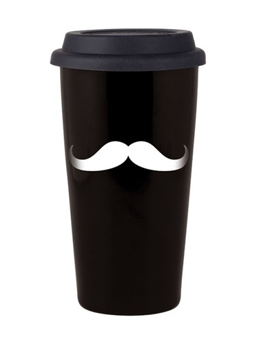 reusable mustache coffee cup