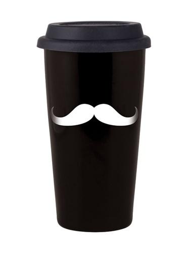 reusable mustache coffee cup