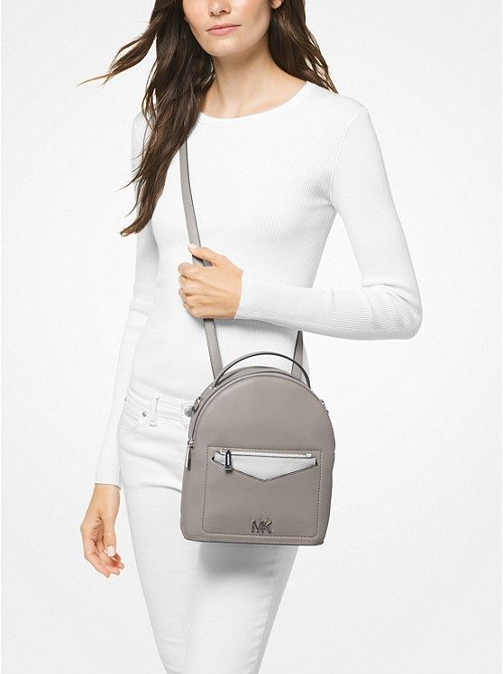 d8c0ac39601d Jessa Small Pebbled Leather Convertible Backpack | mk | Convertible ...