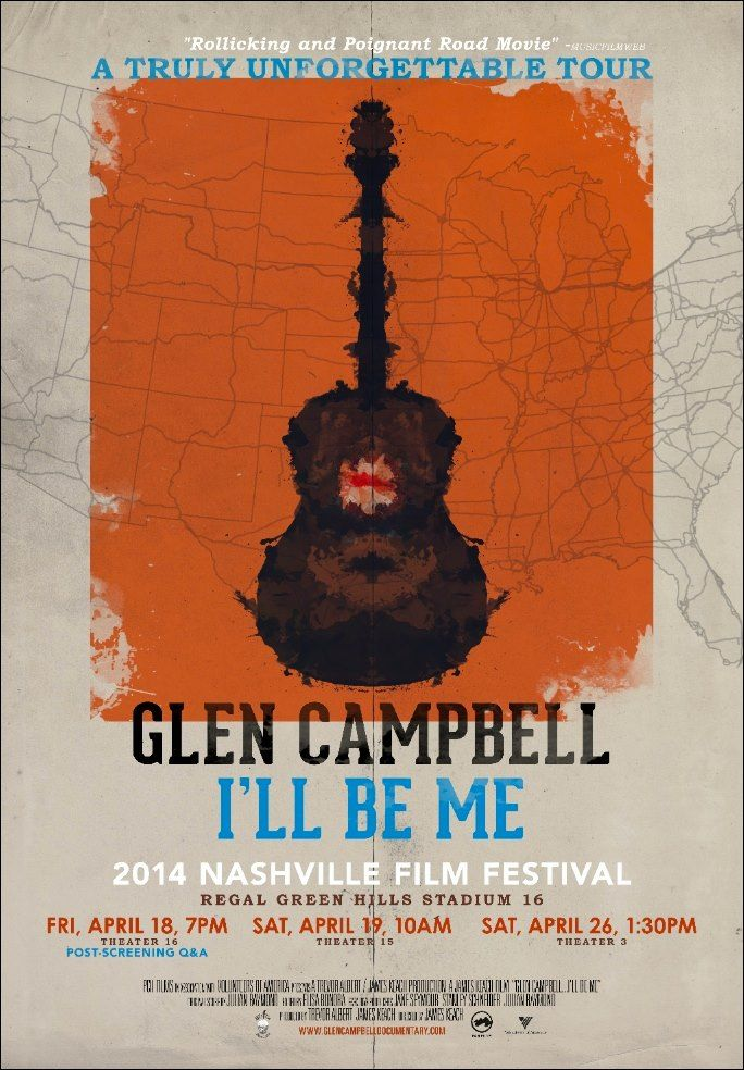 Limited Edition Nashville Film Festival World Premier Poster (GLEN CAMPBELL I'LL BE ME, in theaters October 24th 2014)