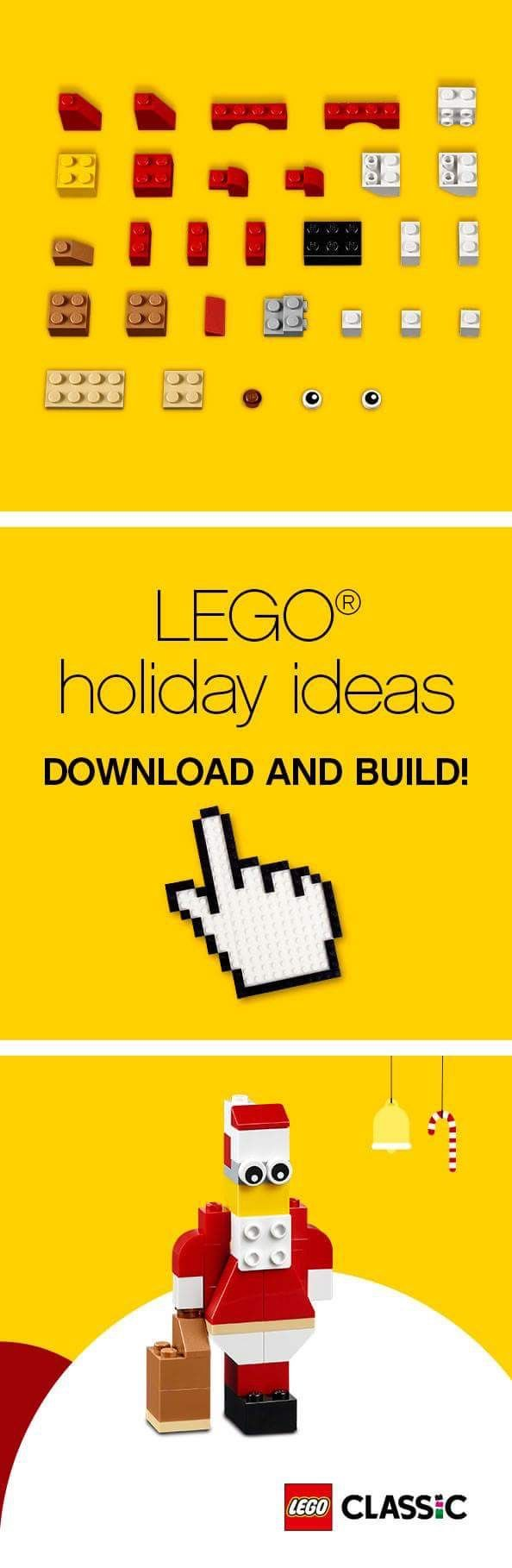 What would the holiday season be without Santa Claus? Find all the necessary LEGO Classic bricks to build your Santa for home decoration: http://lego.build/Door10