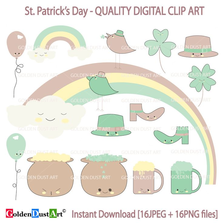 A personal favorite from my Etsy shop https://www.etsy.com/listing/265380051/st-patricks-clipart-st-patricks-clip-art