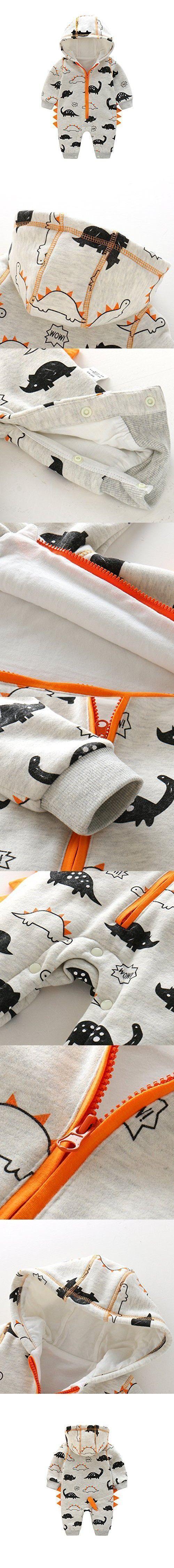 Newborn Baby Boy Baby Girl Unisex Clothes Long Sleeve Dinosaur Hoodies Winter Warm Romper outfit 3-6 months #babyboyhoodies #babygirlhoodie #babyboylongsleeve #babywinteroutfits
