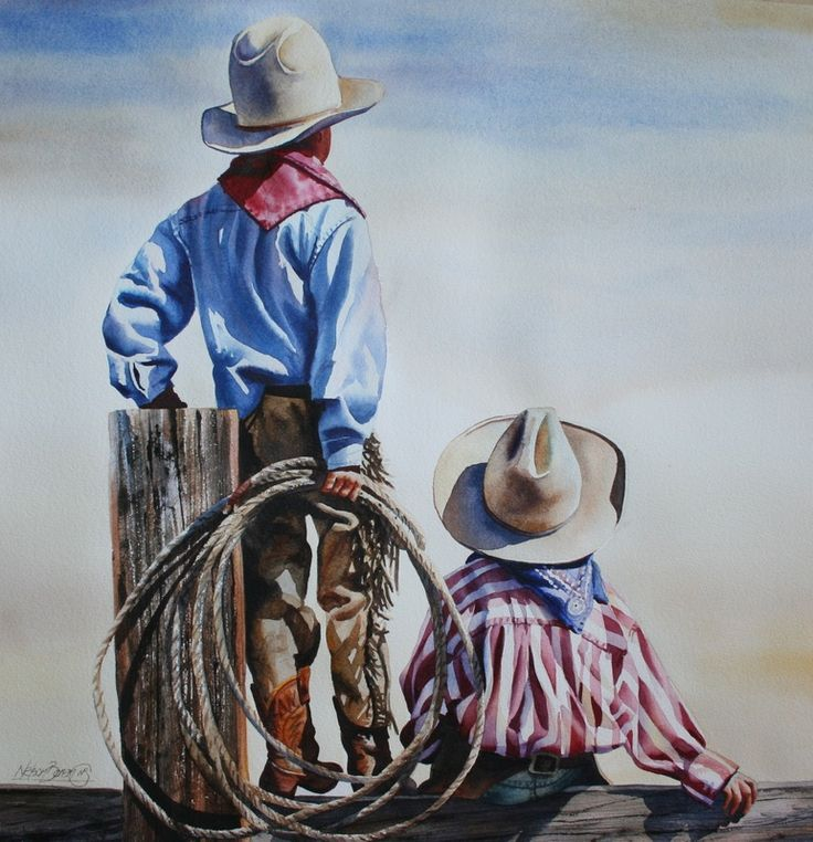 just amazing... Original Watercolor Paintings – Fly Fishing & Cowboy Art - Nelson Boren