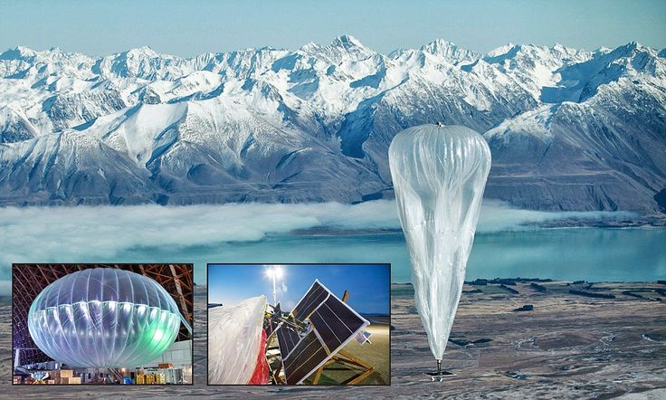 Project Loon takes to the skies: Now Google launches BALLOONS in bid to bring internet to the remotest places on Earth