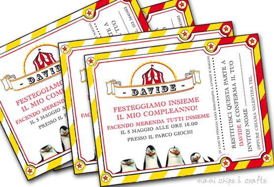 mami chips & crafts: Inviti di compleanno pronti da stampare, tema circ...