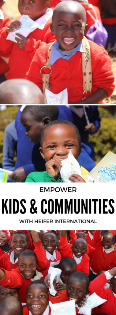 Learn how you can help empower children and communities with the Heifer International School Milk Feeding Program! #GiveHeifer [ad]