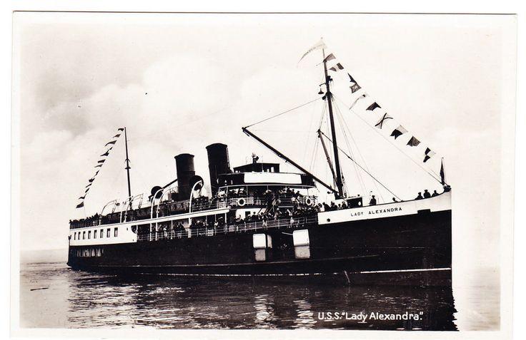 "BC – VANCOUVER, Union Steamship ""Lady Alexandra"", Leonard Frank c.1927 RPPC"