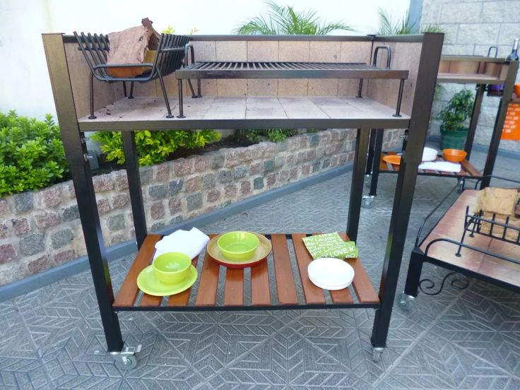 Parrillas Portatil Moviles Balcones/terrazas Parrilla - $ 5.800,00 en Mercado Libre