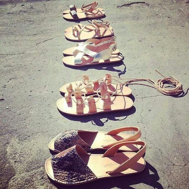 Handmade # greek # sandals # mara & eva
