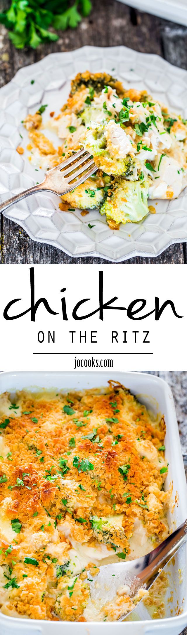 Chicken on the Ritz - this casserole couldn't get any easier made with ingredients you're bound to have on hand. This casserole is perfect for a busy night and packs lots of flavor.
