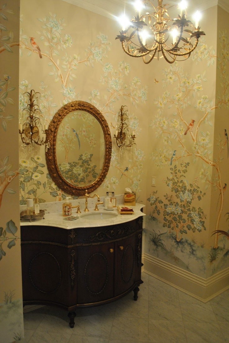 220 Best Powder Rooms Images On Pinterest Bathroom