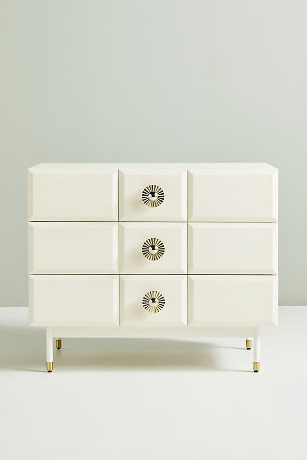 Huxley Shagreen Three Drawer Dresser Three Drawer Dresser