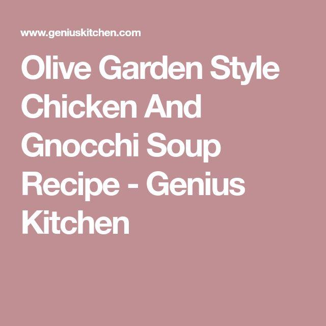 Olive Garden Style Chicken And Gnocchi Soup Recipe - Genius Kitchen