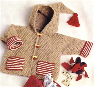 Bergere de France Babies Knitting Patterns Hooded Jacket Knitting Pattern