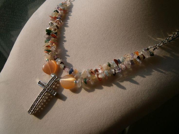 Glaube an die Liebe Kette mit Kreuz und Herz  von kunstpause auf DaWanda.com