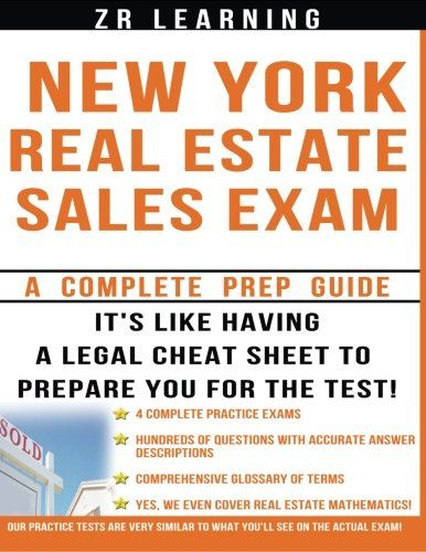 New York Real Estate Exam: A Complete Prep Guide:   This book is the only one you will need to pass the New York Real Estate Sales Exam.  We give you all of the knowledge you will need by spelling out the principles and concepts covered on the exam and then most importantly, drilling it home with over 500 practice questions and thorough explanations of the answers.  Whether you are a novice or hold lots of Real Estate knowledge, this is the book you need to prepare you for the New York...