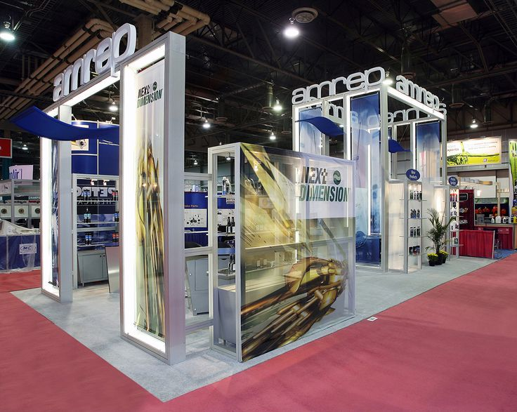 Modular Exhibition Stand for Amrep during its participation in AAPEX at Las Vegas, USA. Know about our products and services at http://www.expodisplayservice.ae/allproducts.asp