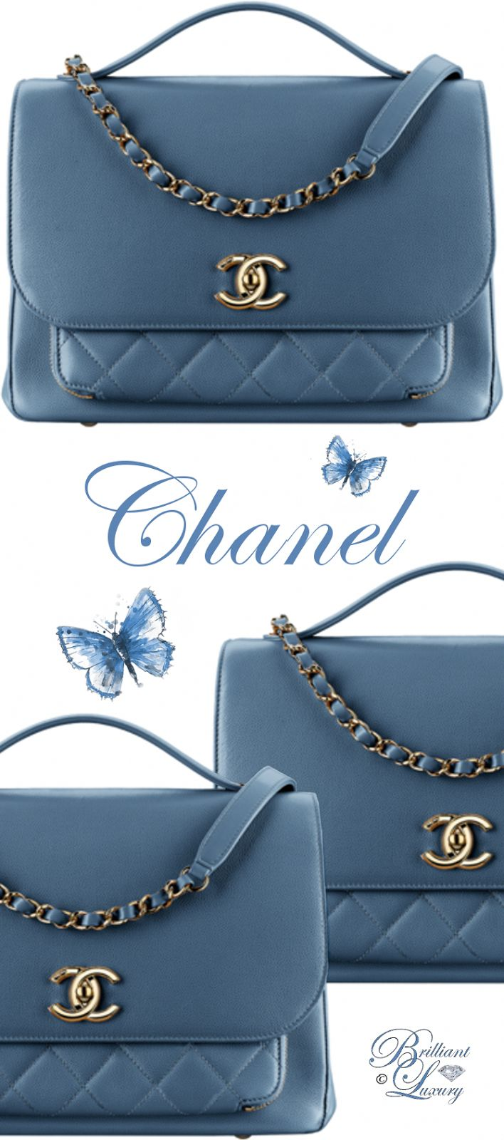 Brillanter Luxus von Emmy DE ♦ Chanel Flap Bag mit Henkel #Chanelhandbags …