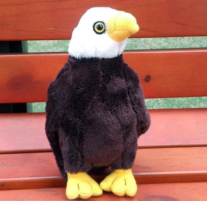 Плюшевые птиц игрушки диких животных моделирование белоголовый орлан мини-издание чучела детских игрушек куклы