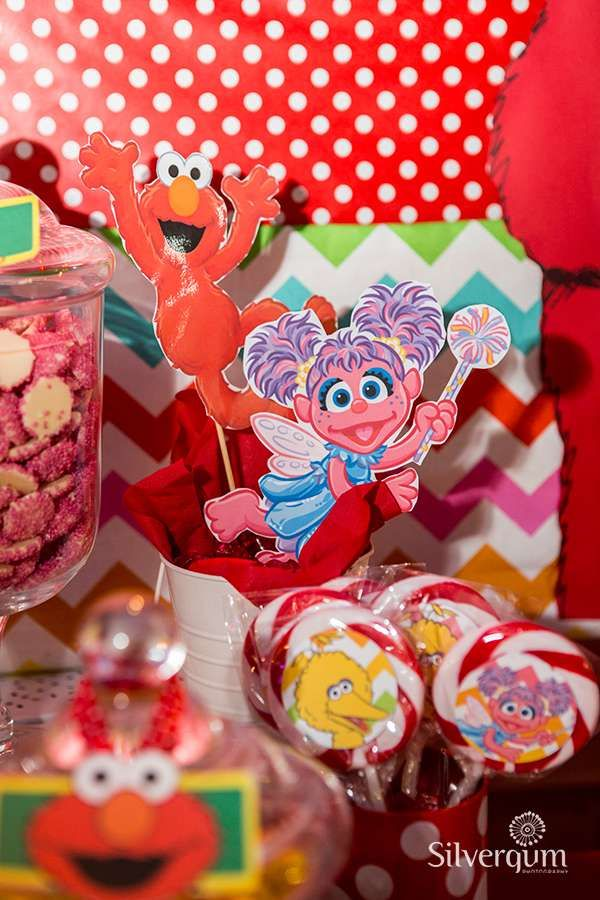 Fun treats at a Sesame Street Elmo birthday party! See more party ideas at CatchMyParty.com!