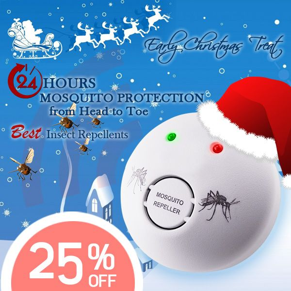 Dont miss out early Christmas Treat for you! 25% off for this Mosquito Repellent.. http://www.gainexpress.com/products/ar-111-ultrasonic-mosquito-repeller-repellent-control-110v-240v Visit our website www.gainexpress.com Like us on Facebook :https://www.facebook.com/gainexpress...Follow us on twitter: https://twitter.com/gainexpress Subscribe us on youtube: http://www.youtube.com/gainexpressltd  #Christmas #sale #Christmascountdown #mosquitorepellent
