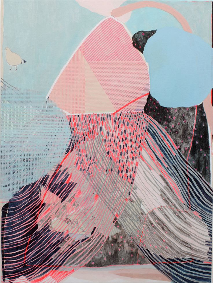 EarlySummerRain_detail: Colors Combos, Birds Paintings, Design Art, Colors Schemes, Summer Rain, Early Summer, Colour Palettes, Ears Summer, Misato Suzuki