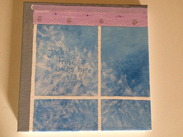 Beautiful pictures painted by Laura. Jack Frost was here❄️❤