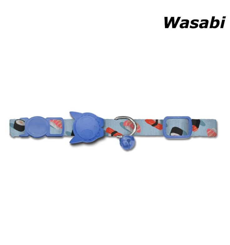 """ZEE DOG CAT COLLAR """"WASABI"""" WITH BREAKAWAY SAFETY CLIP"""