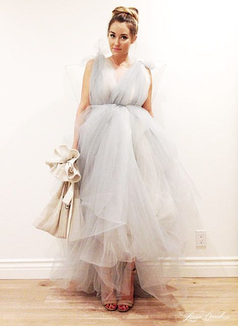 Newly engaged Lauren Conrad shared a photo of herself dressed in her handmade Tooth Fairy Halloween costume.