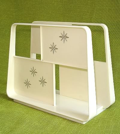 Vintage 50's Atomic Starburst Napkin Holder - I think one of my grandmothers had this