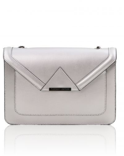 IRIDE TL141567 Ruga leather clutch with chain strap