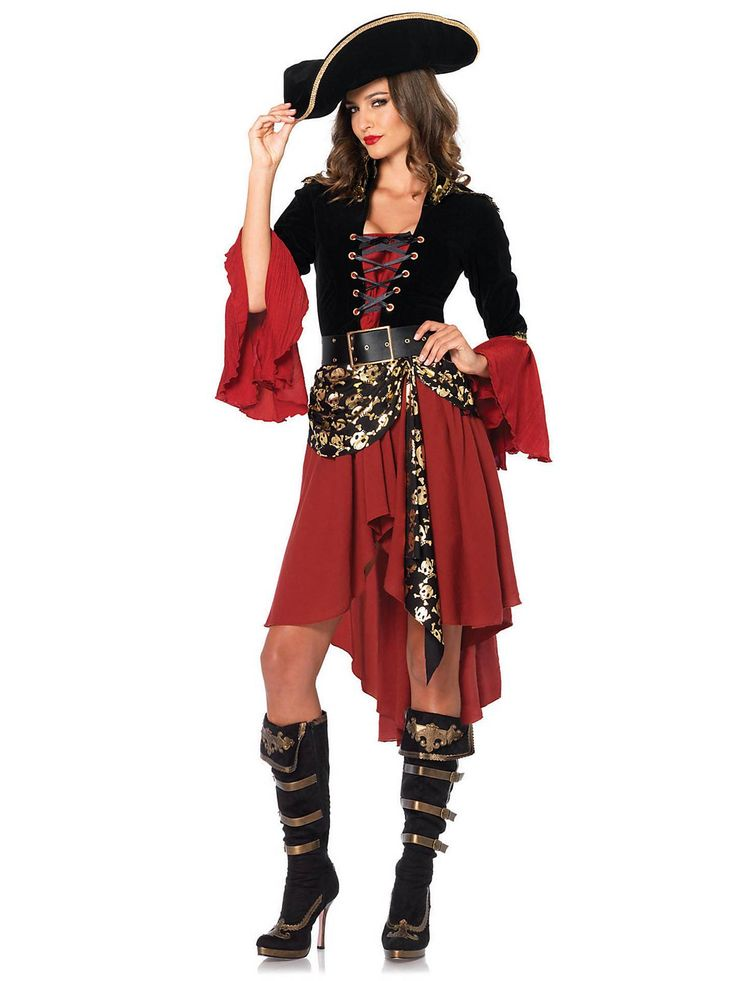 Sexy Women's Cruel Seas Captain Costume | Wholesale Pirate Costumes for Adults