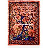 """Tree Of Life Ethnic Indian Wall Hanging Cotton Tapestry Poster Throw Art 30x42"""" Traditional Tapestries By Handicraftspalace"""